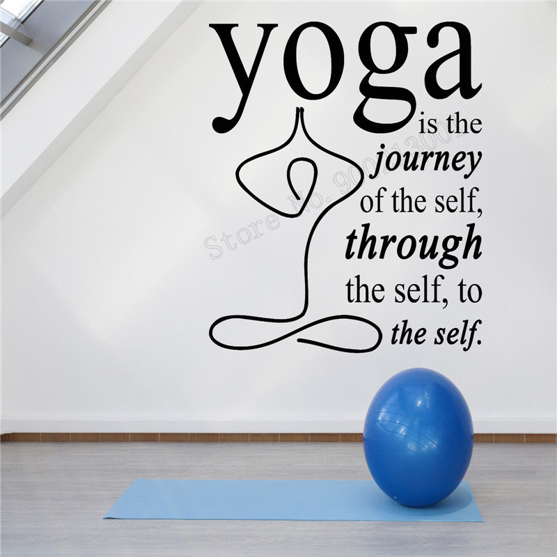 Art  Wall Sticker Yoga Decoration Phrase Motivation Philosophical Statemen Decal Beauty Quotes Mural Removeable LY243