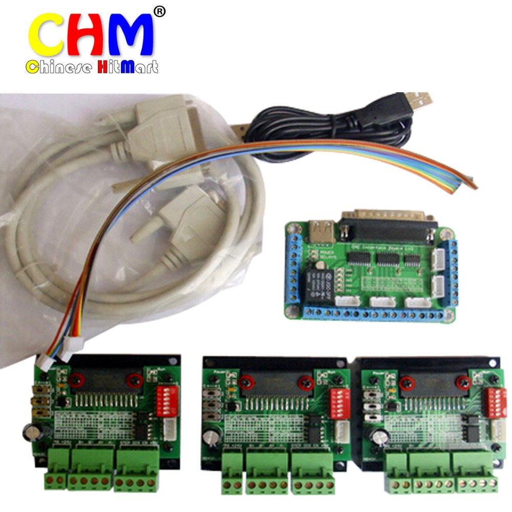 High Quality 3 Axis TB6560 CNC Stepper Motor Driver Controller Board Kit 4pcs Set Free Shipping