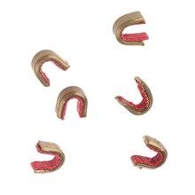 6 個銅弓列 Nocks セット Nocking 点アーチェリーバックルクリップ弓の弦から範囲 10 16 ストランド