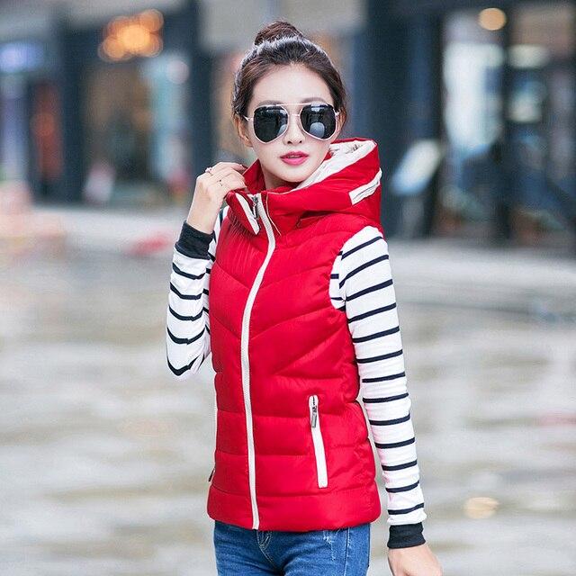Жилет жилет зима жилет femme colete feminino chalecos mujer густой Черный Красный верхняя одежда 3XL плюс размер женщин clothing