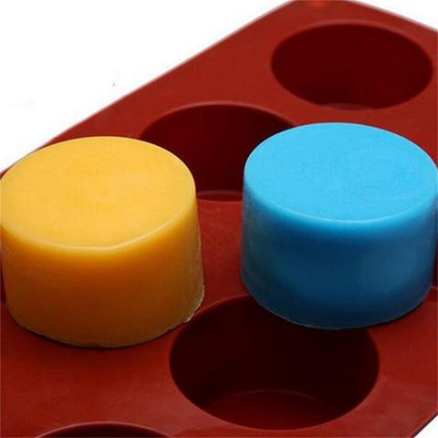 Dropshipping 8-Cavity Oval Shape Soap Mold Silicone Chocolate Mould Tray Homemade Making DIY Karachi