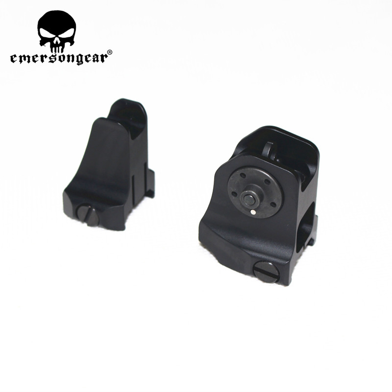 Tactical Fixed Front Rear Sight Streamline Design Standard AR15 Apertures Iron Sights Hunting Airsoft Accessories-in Paintball Accessories from Sports & Entertainment