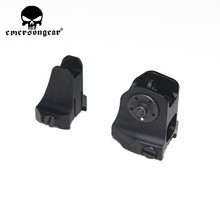 Tactical Fixed Front Rear Sight Streamline Design Standard AR15 Apertures Iron Sights Hunting Airsoft Accessories