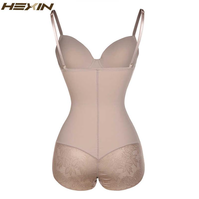 HEXIN женское Сексуальное Кружевное боди для похудения, Корректирующее белье для тела, пуш-ап, бюстгальтер с регулировкой живота и жира, регулируемое Корректирующее белье