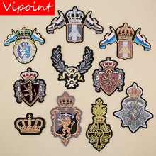 VIPOINT embroidery college patches army badges applique for clothing XW-106