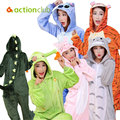 Большой размер детская пижамы домашние животные мужская фланели зима теплая пижамы с рукавами костюм семья одежда бесплатная доставка KC112