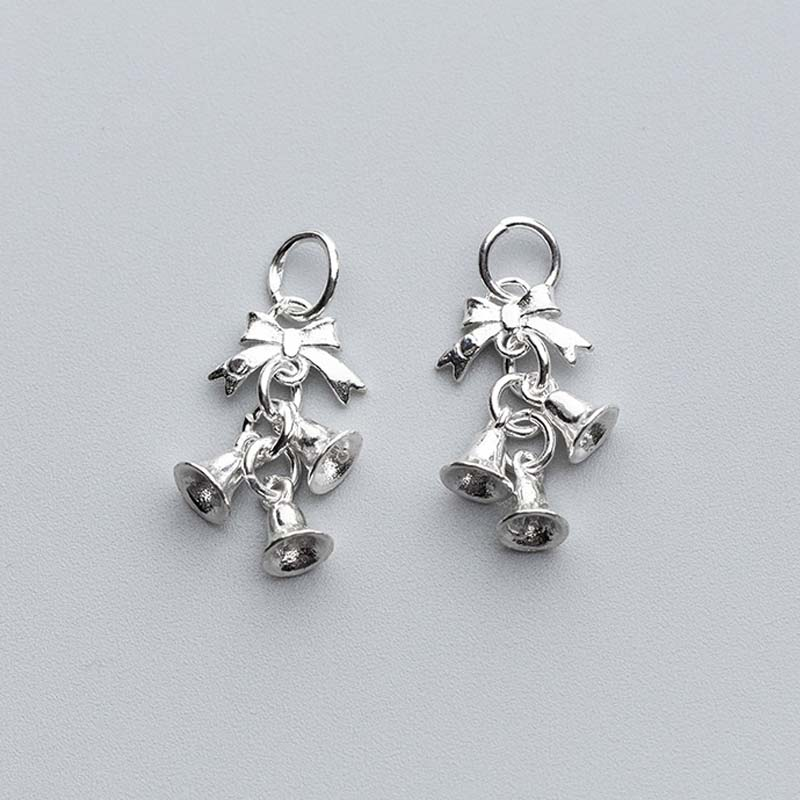 925 Sterling Silver Christmas Jingle Bell Charms 25 5mm