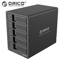 ORICO Алюминий 3,5 дюймов 5bay док станция для HDD USB3.0 SATA с RAID Функция HDD 5bay корпус 5 Bay HDD Чехол черный