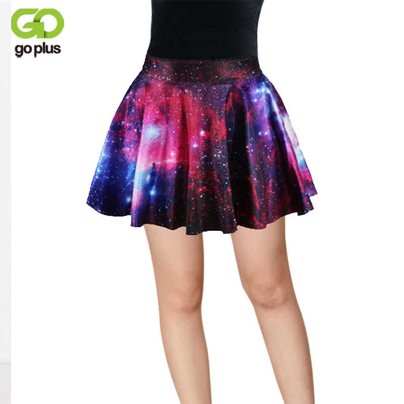 d1926978e GOPLUS New 2019 Summer Fashion Ladies Pleated Skirts Galaxy Starry Night  SKIRT Printed Skynight Skirts Free