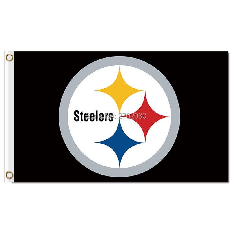 Pittsburgh Steelers Calcio Serie Bandiera Del Mondo Squadra Champions Pittsburgh Steelers Squadra 3ft X 5ft Super Premium Banner Flag