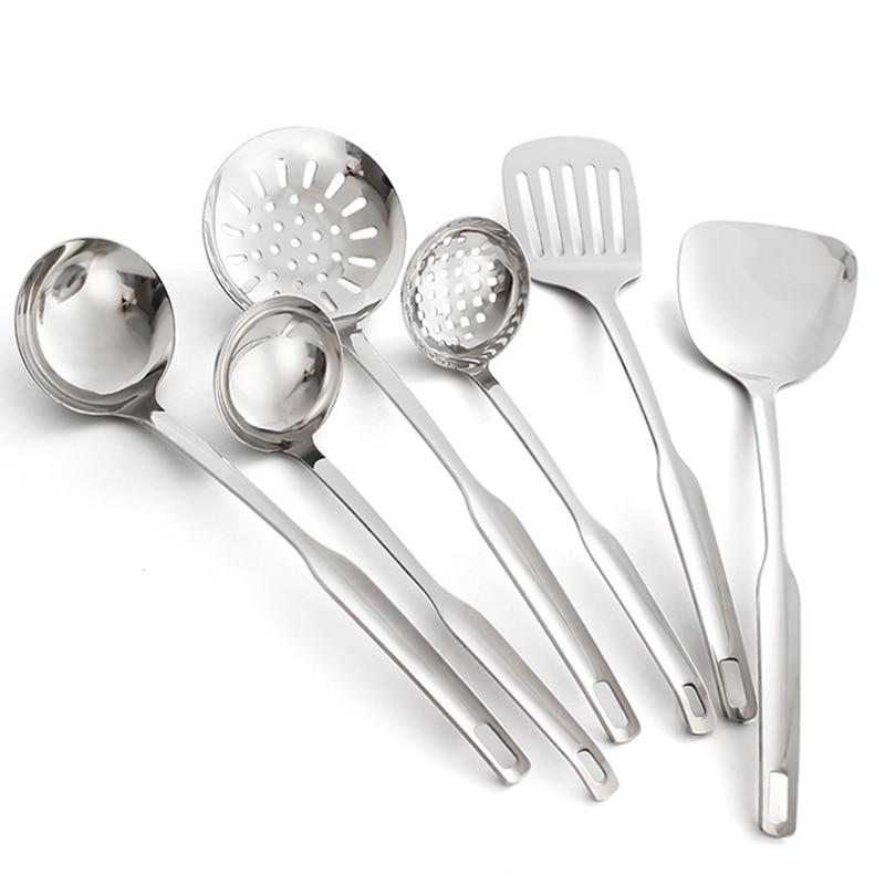 Restaurant Kitchen Utensils: 1PC Stainless Steel Kitchenware Cooking Tools Set Kitchen Gadgets Utensils Restaurant Cookware