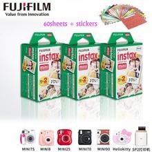 D'origine Fujifilm instax mini 8 film pour 7 S 25 8 50 s 90 polaroid Partager SP-1 appareil photo instantané mini fuji film blanc cadre