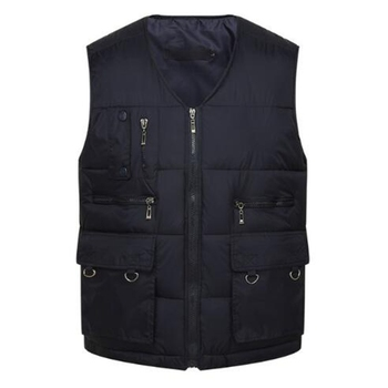 Winter Men Cotton Warm Vest Waistcoat Male Sleeveless Jacket With Many Pockets Vest Casual Baggy Zipper For Man Plus Size S-3XL цена 2017