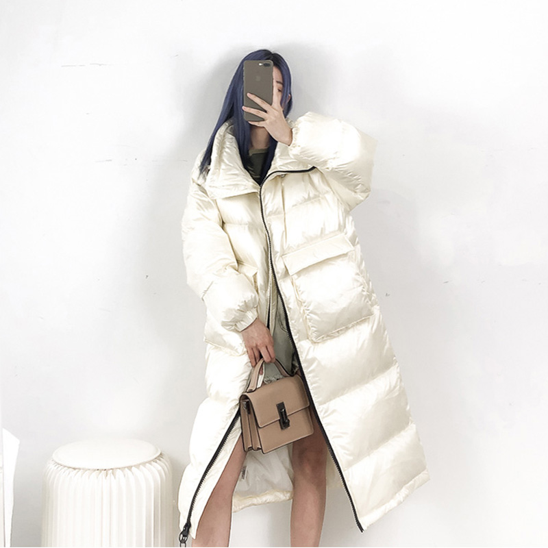 2019 New Winter Coat Women 90% White Duck Down Jacket Women Thick Long Down Parka Winter Jacket Women Female Loose Warm Coat