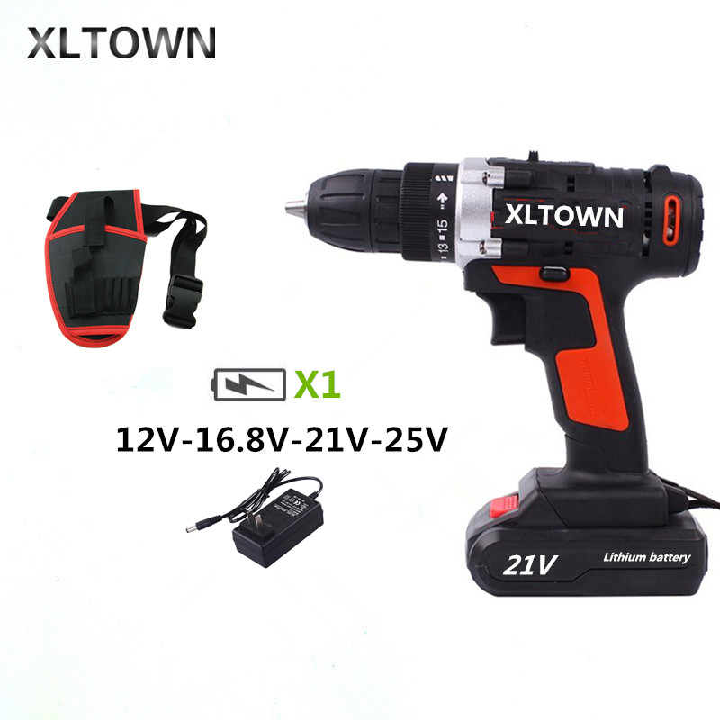 XLTOWN 12/16.8/21/25velectric screwdriver household electric drill rechargeable multi-function rechargeable electric screwdriverXLTOWN 12/16.8/21/25velectric screwdriver household electric drill rechargeable multi-function rechargeable electric screwdriver