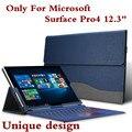 """Design criativo de alta qualidade caso tablet para microsoft surface pro 4 12.3 """"Capa de Couro Premium PU Para Pro4 Com Suporte Stylus"""