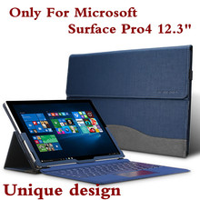 New Design High Quality Tablet Case For Microsoft Surface Pro 4 12.3″ Premium PU Leather Cover For Pro4 Keyboard Cover Pen Gift