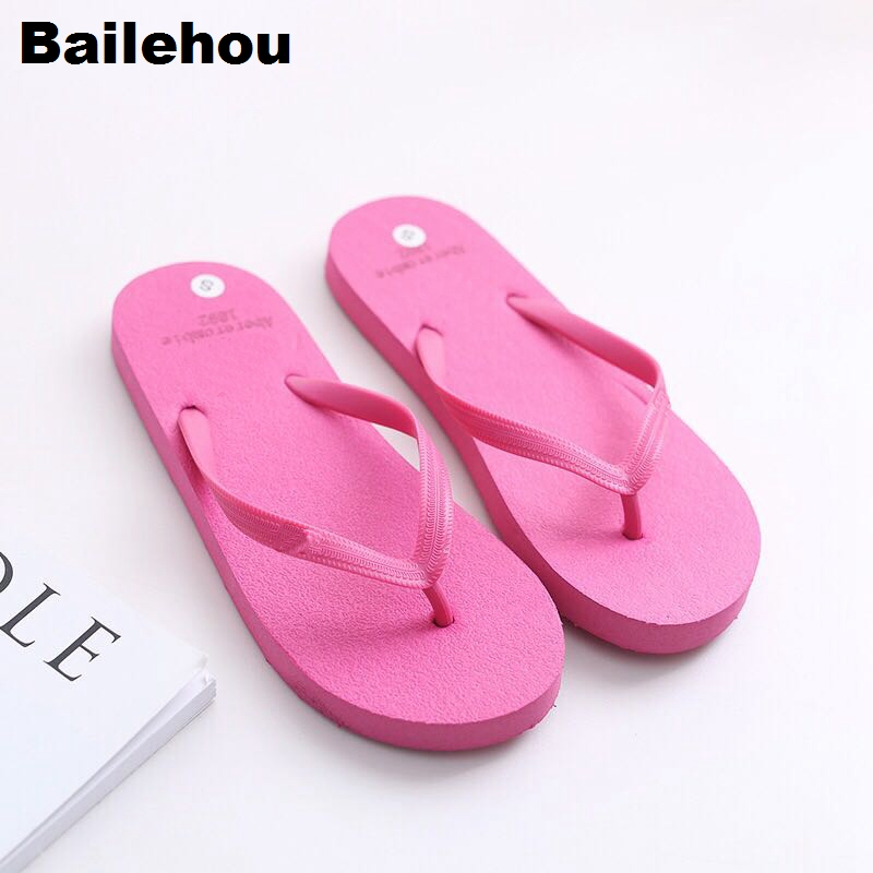 Bailehou Women Slippers Beach Flip Flops Sandals Slip On Slides Indoor Home Slipper Women Flat Casual Shoes Female Drop Shipping - 3