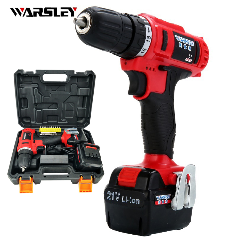 21v Cordless torque Drill electric Drill power tools  Batteries power Screwdriver Mini precision electric waterproof drilling