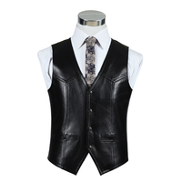 BOU The new 2018 autumn/winter leather sheepskin vest for men The first layer of sheep leather vest
