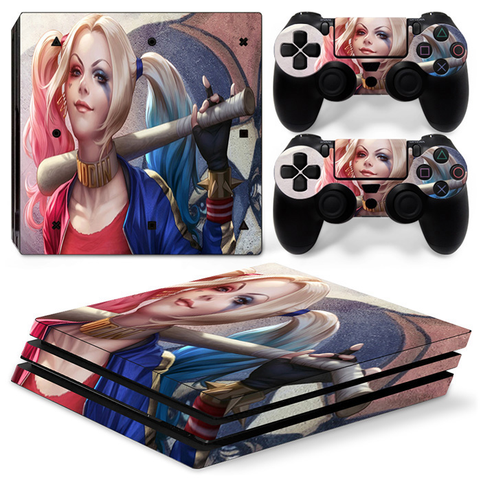 Custom skin sticker for PS4 PRO console controller decal