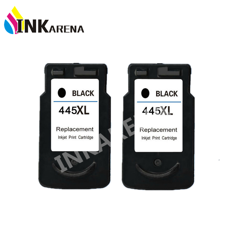 2 Pcs Black PG 445XL PG 445 PG445 CL446 PG445XL PG 445 Ink Cartridges For Canon
