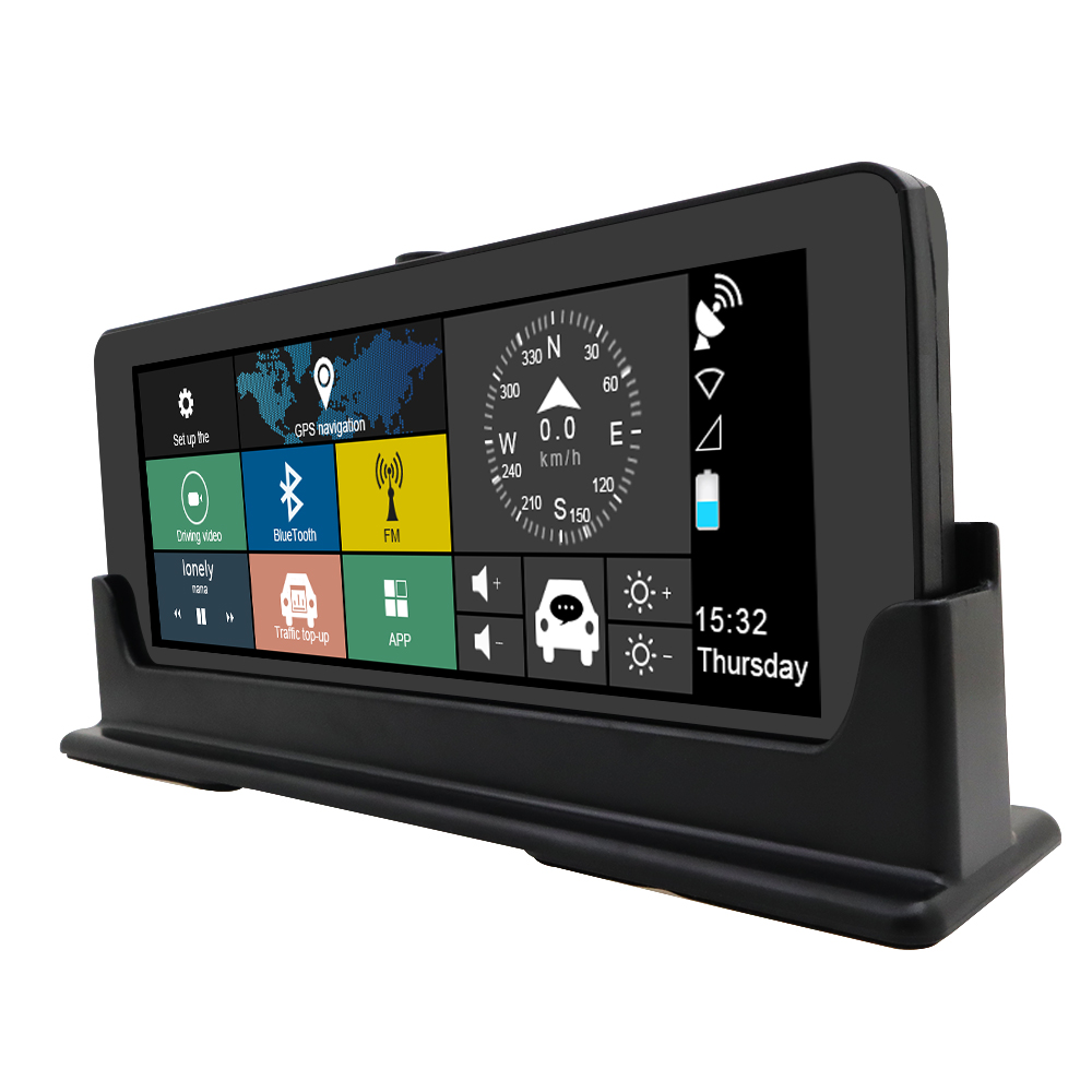 Voiture GPS Navigation DVR caméra 4G WIFI 6.86