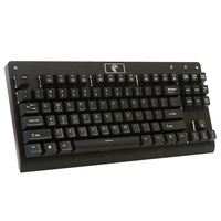 Z 77 87 Keys Mechanical Gaming Keyboard with Blue Switches DIY Replaceable Switches Black