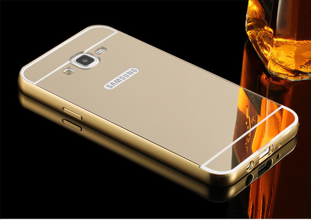 Cover For Samsung Galaxy J2 Prime Grand G532 Case Luxury Rose Gold Plating Mirror Phone