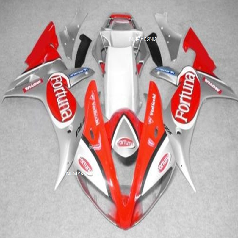 RED white ABS Plastic Injection Molding <font><b>Fairing</b></font> Bodywork Kit For <font><b>Yamaha</b></font> YZF <font><b>R1</b></font> 2002 <font><b>2003</b></font> YZFR1 02 03 Moto <font><b>Fairings</b></font> image