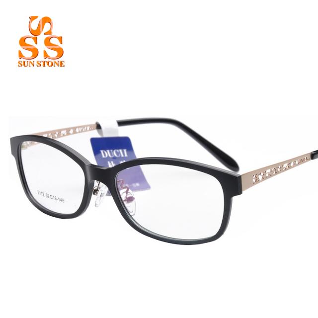 Marca Unissex Armações de Óculos Óptica Óculos de Armação de Metal Oco Design de Moda Homens Mulheres Prescrição Enchimento F113