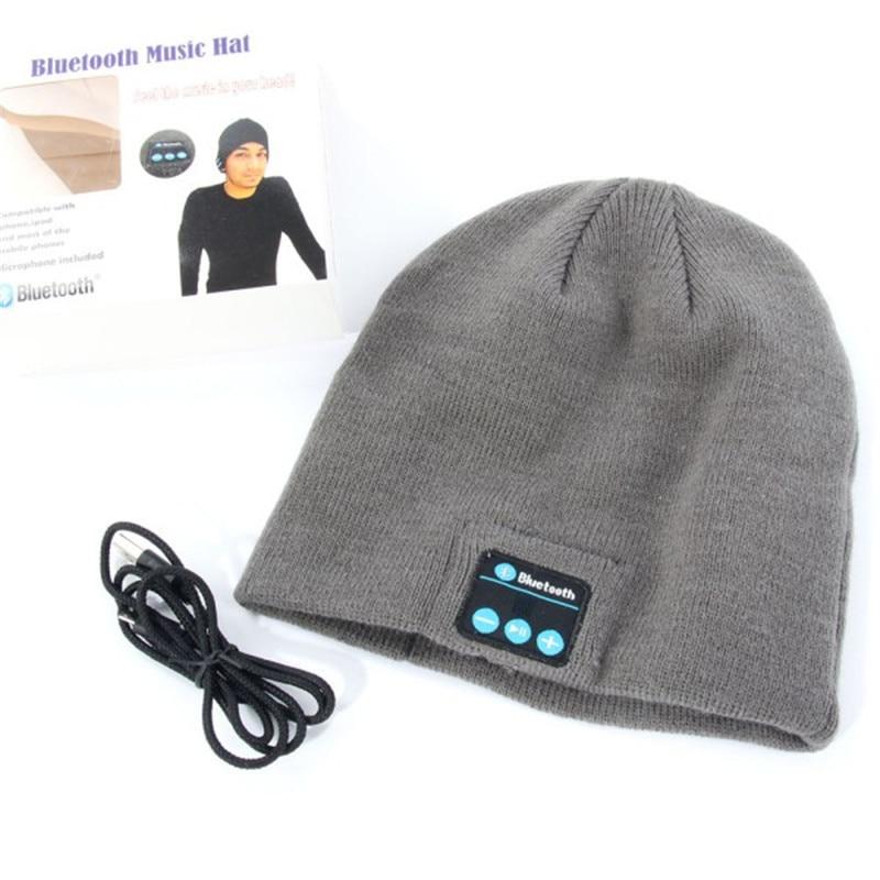 3e1b320c6f8 Warm Beanie Hat Wireless Bluetooth Smart Cap Headphone Headset Speaker Mic