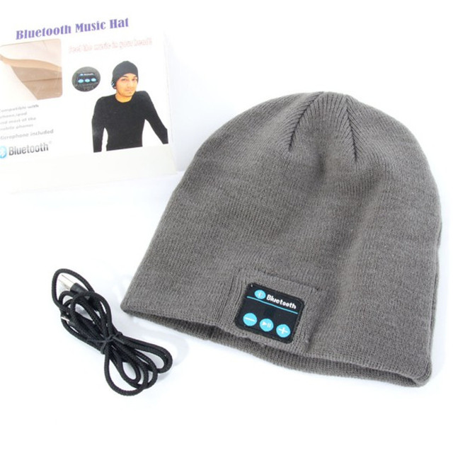 c83793726d5 Warm Beanie Hat Wireless Bluetooth Smart Cap Headphone Headset Speaker Mic