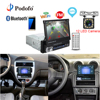 Podofo Car Radio GPS Navigation Stereo Audio Multimedia Player Bluetooth 1din 7 HD Retractable Touch Screen