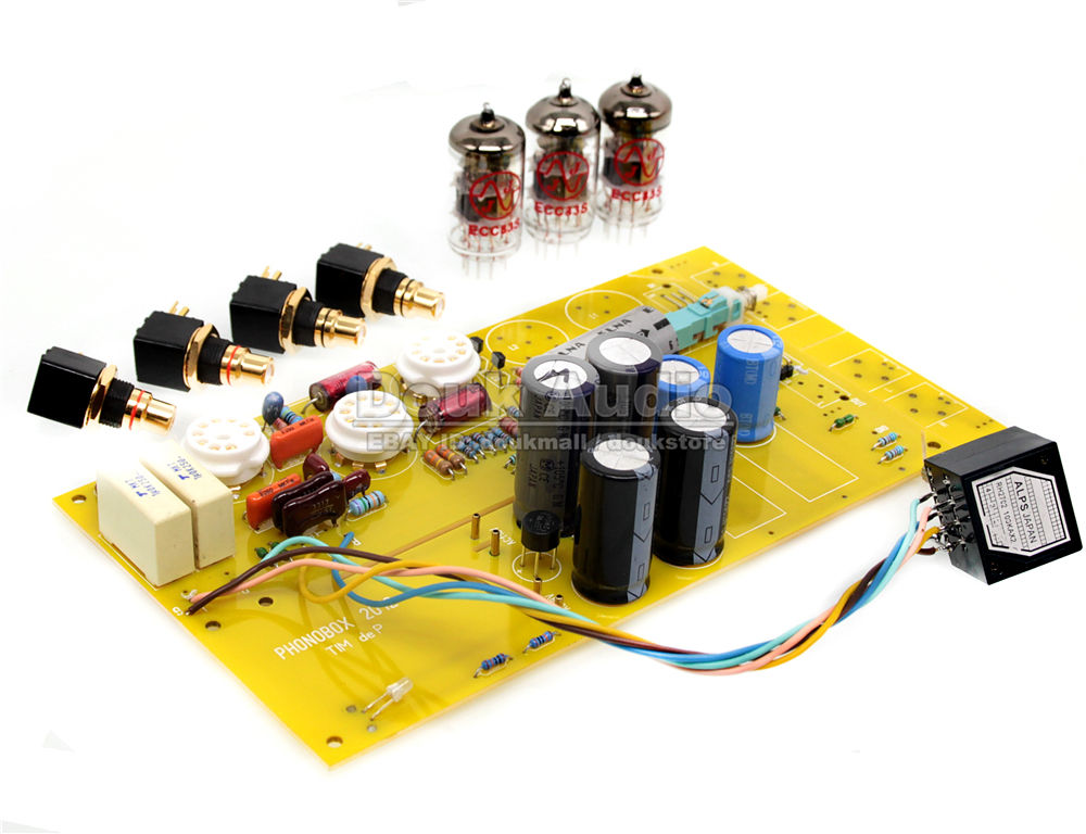 DoukAudio Phono Pre-Amplifier MM Turntables 12AX7 Valve Tube Preamp Record Player Amplifier Board