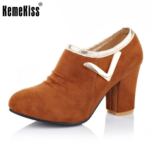 Lady High Heel Ankle Boots Fashion Zipper Square Heels Vintage Shoes Woman Office Las Dress Botas