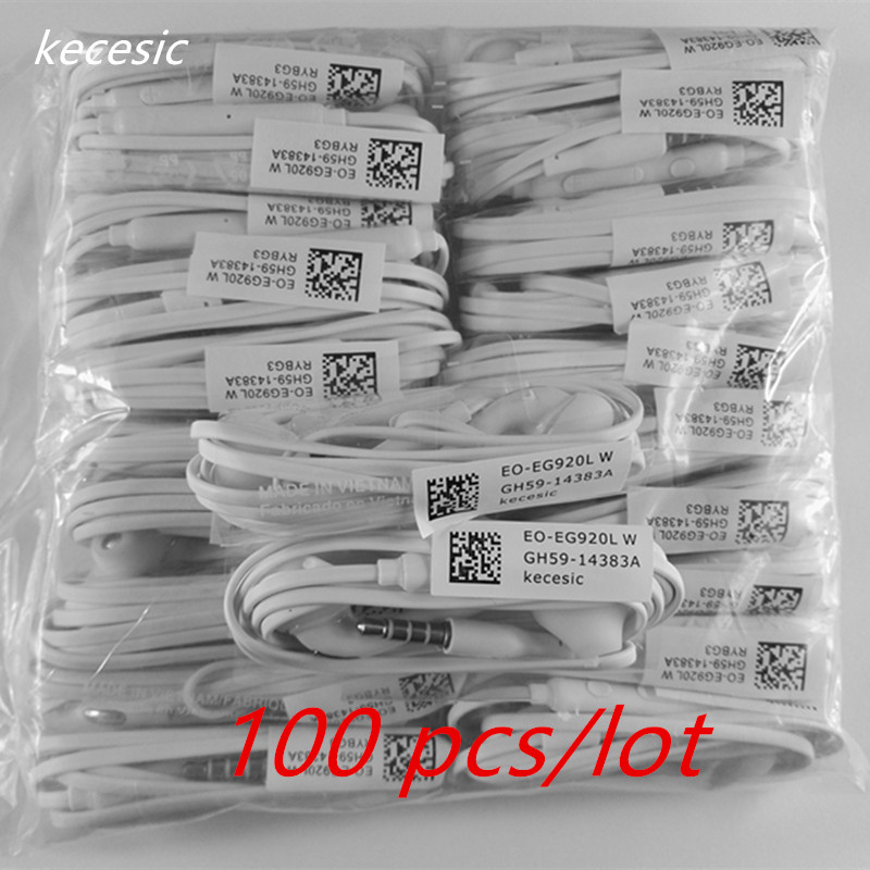 100 pcs lot kecesic S6 Earbuds New with Mic 3 5mm high quality Earphone for Samsung