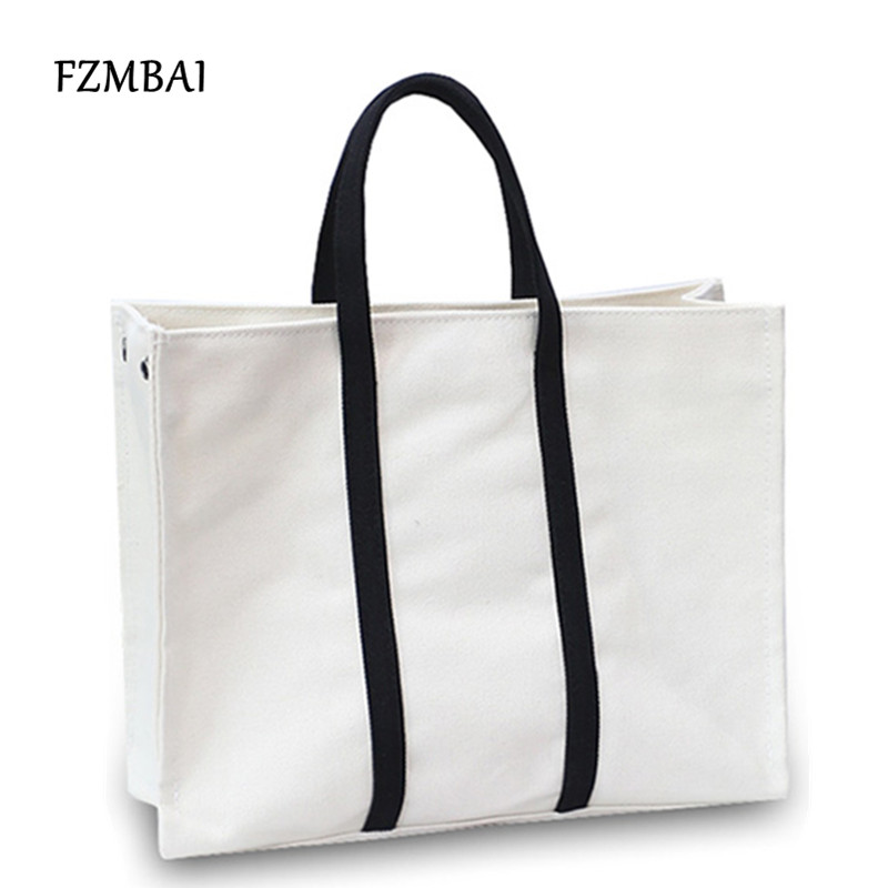 Us 19 36 Fzmbai Leisure Canvas Tote Bags College Students Large Capacity School Women S Ping In Top Handle From Luggage On
