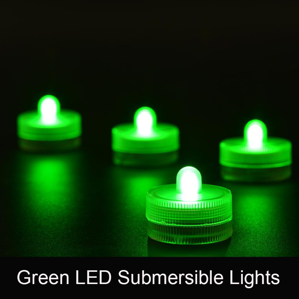 10pcs/lot Waterproof Wedding Submersible Battery LED Tea Lights Underwater Sub Lights- Wedding Centerpieces Party Decor