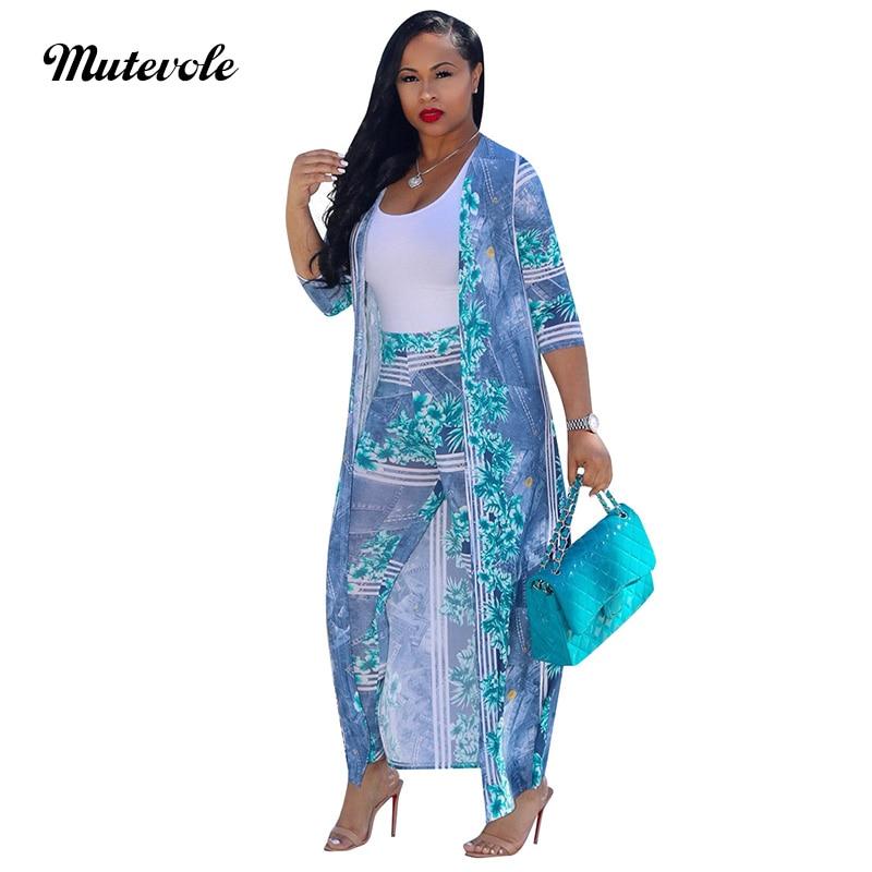 e3c8957230b Mutevole PLUS SIZE Women Floral Print Pants Set Half Sleeve Long Top and  Pants Two Piece