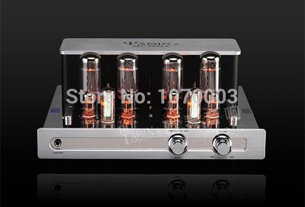 цена J-010 YAQIN MC-5881A Integrated Vacuum Tube Amplifier 5881Ax4 Ultra-linear Power Amp 2x23W 110V/220V Vacuum Tube Headphone Amp
