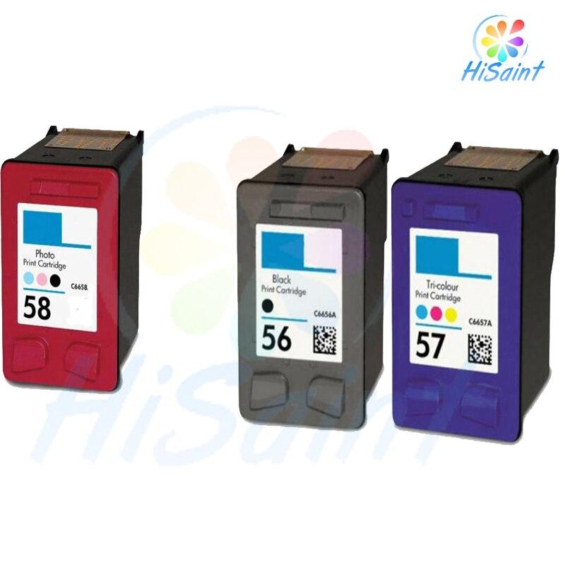 Hisaint 3 Pack d'encre Compatible C6656 C6657 C6658 pour HP Deskjet 3550 Officejet 4110 cartouches d'encre chinoise pour HP 56 57 58