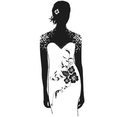 Loja de roupas de Parede De Vinil Decal Sexy Mulher Vestido de Noiva Loja  Mural Art Adesivos de Parede Loja de Roupas Sexy Menina Decoração de Casa  em ... 2f6d0b242ed