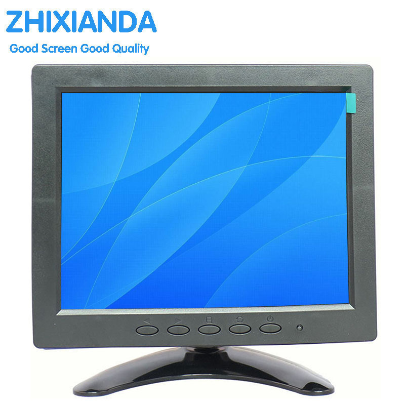 8 inch VGA AV BNC HDMI industrial security LCD high-definition computer monitors конвертор bnc vga каркам