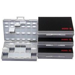 AideTek Коробка органайзер для рукоделия бусины крышки для хранения пустой корпус SMD SMT Органайзер поверхностное крепление пластиковый ящик дл...