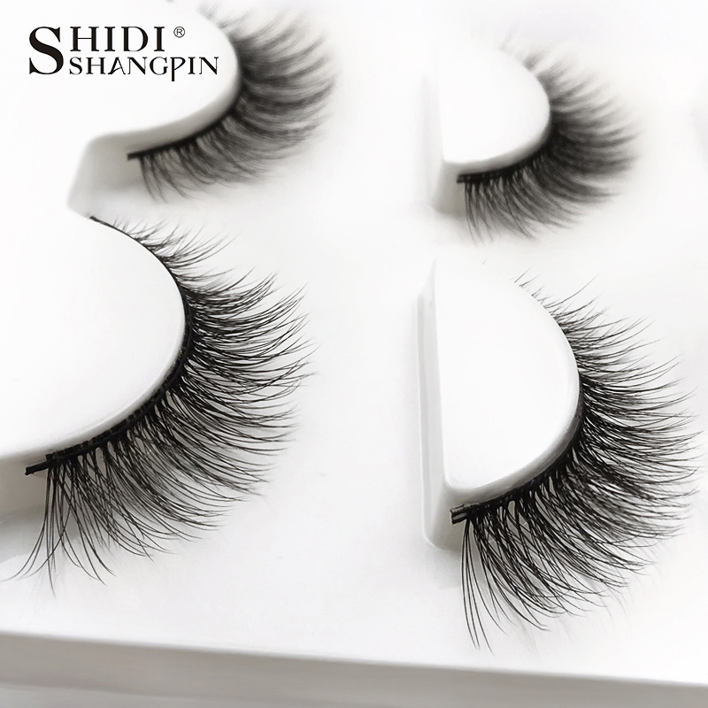 HTB1PiJ0XffsK1RjSszgq6yXzpXav SHIDISHANGPIN 3 pairs mink eyelashes natural fake eye lashes make up handmade 3d mink lashes false lash volume eyelash extension