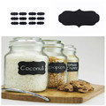 12Pcs Chalkboard Blackboard Chalk Board Stickers Craft Kitchen Jar Labels Memo Pads Sticky hot sale