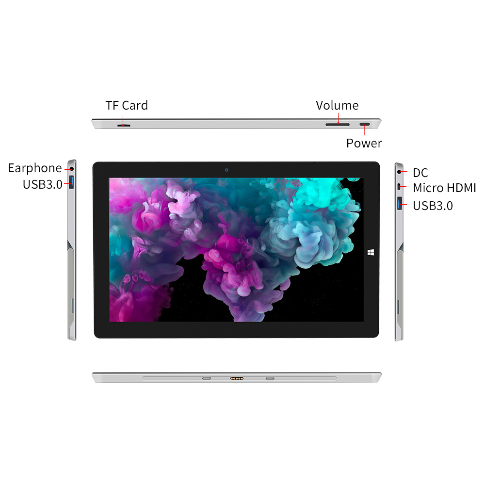 Image 5 - 2 in 1 Tablet PC Jumper EZpad Go 11.6 inch IPS Display windows tablet 4GB RAM 64GB/128GB Intel Apollo Lake N3450 tablet with pen-in Tablets from Computer & Office