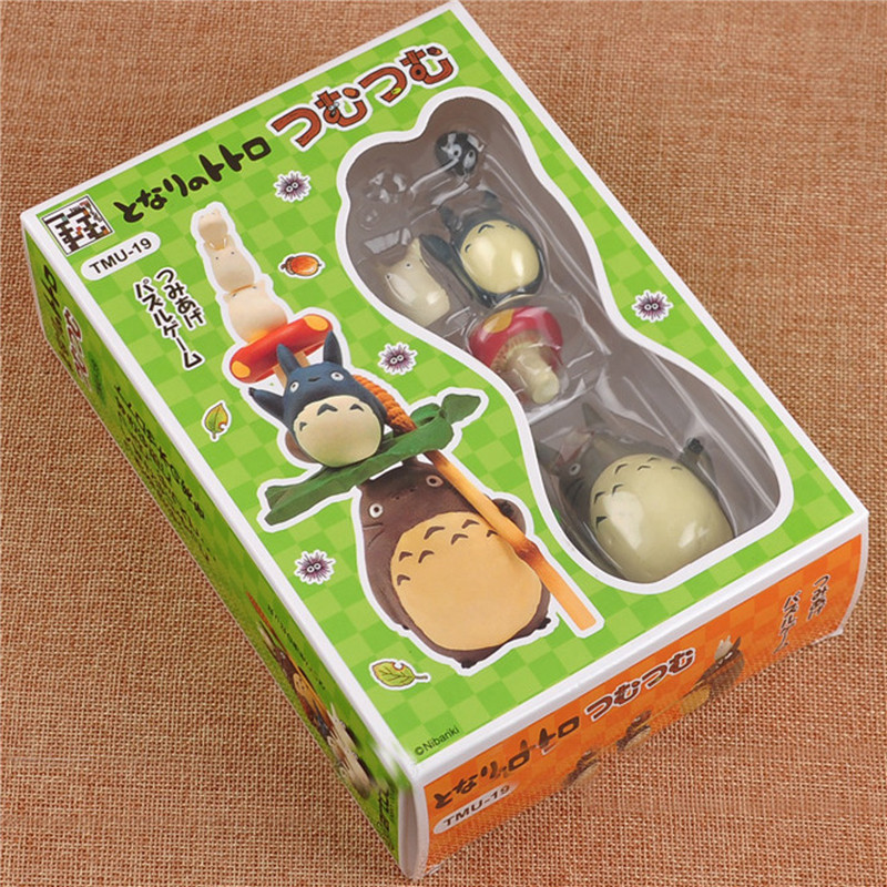17pcs/Set Totoro Figures Toy High Quality Totoro Money box Action Figure Best Gifts Toys For Kids Retail Box 10cm mother garden high quality wood toy wind story green tea wooden kitchen toys set