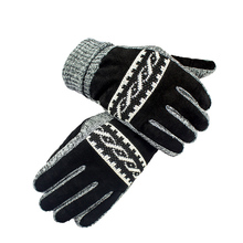 Autumn And Winter MenS Pigskin Gloves Touch Screen Warm Thickening Points To Drive Non-Slip RL69120-5